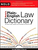 img - for Nolo's Plain-English Law Dictionary by Gerald Hill (2009-05-24) book / textbook / text book