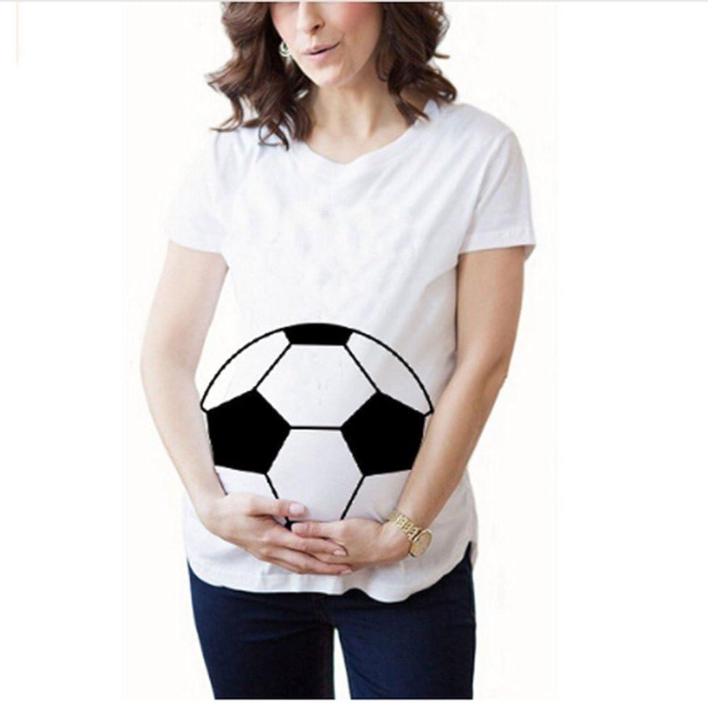 Las Mujeres Embarazadas Forman la Camiseta de Fútbol Impresa Linda de la Camiseta del Fútbol: Amazon.es: Ropa y accesorios
