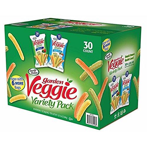 (Garden Veggie Straws-30 Bags - Sea Salt & Zesty Ranch)