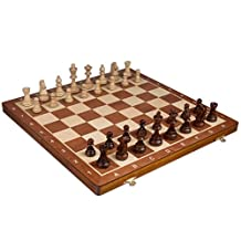 "Chess Set - Tournament Staunton Complete No. 6 Board Game - Hand Made European 21""x 21"" Set"