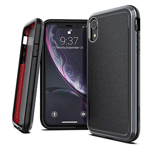 """X-Doria Defense Ultra Series, iPhone XR Case - Heavy Duty Protective Case with Anodized Aluminum Frame, Military Grade Drop Tested Case for Apple iPhone XR, 6.1"""" LCD Screen (Black)"""