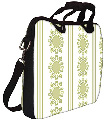Snoogg Lite Grün Muster 30,5cm 30,7cm 31,8cm Zoll Laptop Notebook Computer Schultertasche Messenger-Tasche Griff Tasche mit weichem Tragegriff abnehmbarer Schultergurt für Laptop Tablet PC Ultraboo