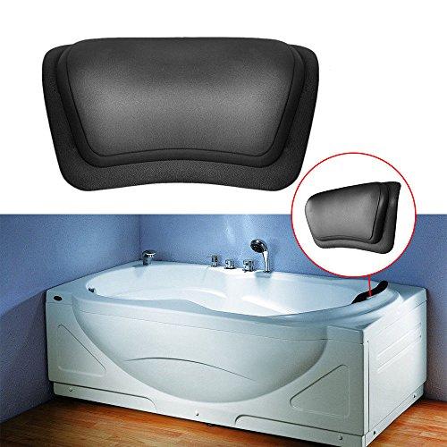 MIJORA-Black Bathtub Pillow Headrest Waterproof PU Bath Pillows Bathroom Supplies FDJS6 (Bathroom Scale Mickey)