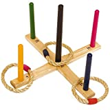 Children's Garden Games Throwing Ring Toss Traditional Quoits Set