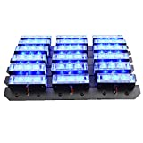 XKTTSUEERCRR 54x LED Ultra Bright Emergency Service Vehicle Dash Deck Grill Warning Flashing Strobe Light (Blue)