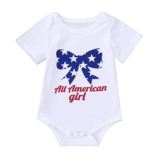 US Newborn Baby Girl Boy Cotton Short Sleeve Romper Jumpsuit Outfits Clothes Set