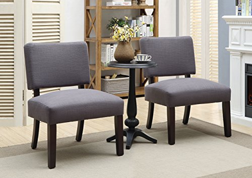 HOMES: Inside + Out IDF-AC6333-3PK Rise Chair and Table Set, Walnut