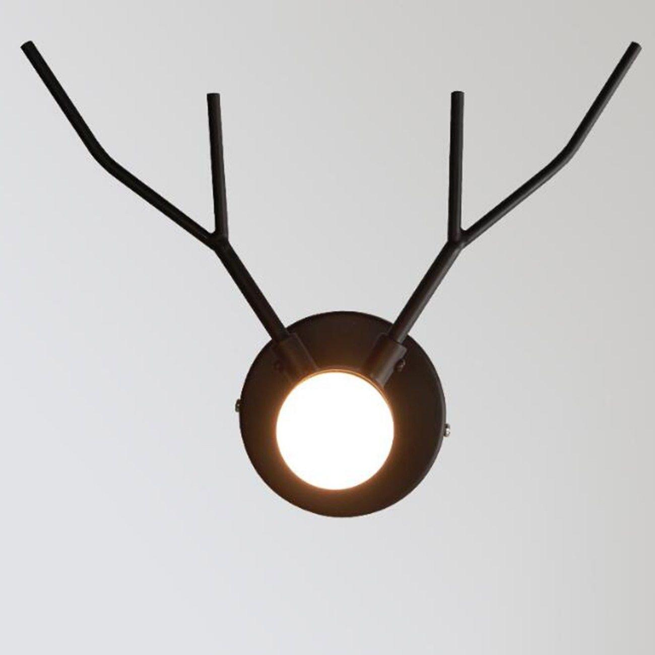 T-ZBDZ Wohnzimmer Studie Schlafzimmer Nachttischlampe Gang Hirsch Hintergrund Wand Lampe Junge Zimmer Beleuchtung
