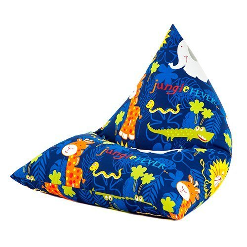 Ready Steady Bed Jungle Fever Animals Print Pyramid Shaped Fun Children's Filled Bean Bag