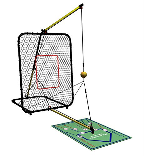 SwingAway Jennie Finch Gold Medal Edition SwingAway Hitting Trainer, Black/Yellow by Swing Away Sports