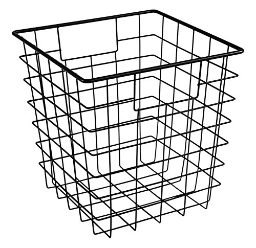 ClosetMaid 13033 Cubeicals Wire Storage Bin with Handles, Black ()