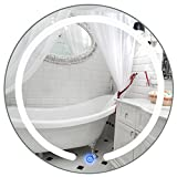 Mirror Led Illuminated Light Round Wall Mount Bathroom Make Up Touch Button 20''