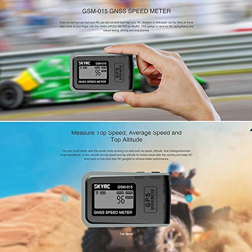 Goolsky SKYRC GSM-015 GNSS misuratore di velocit¨¤ GPS per droni RC FPV Multirotor Quadcopter Airplane Helicopter