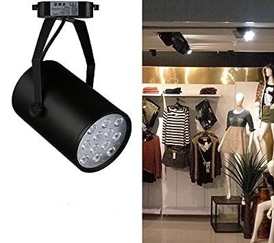 CTKcom 7W LED Track Spotlight,Spotlight Ceiling Lamp Bulb,Spotlight Track Light,Pure White Lamp Ceiling Light for Shop Hotels Accent Task Wall Art Exhibition Retail Lighting Voltage85-265V,Black