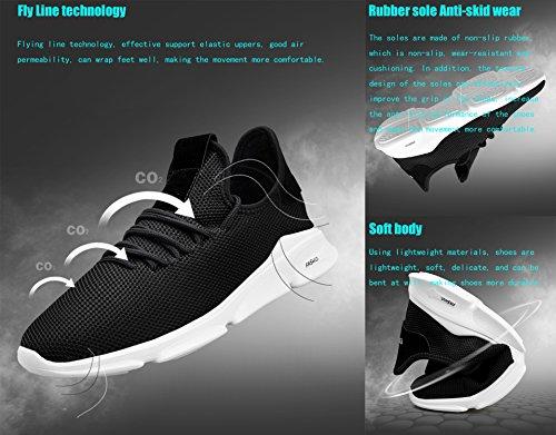 Correr 45 Aire Zapatos C05 Deporte Para Gimnasio Hombre Casual Sneakers Running Y Zapatillas Blanco Libre 39 Gnediae Transpirables xIqFwZ7fZ