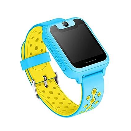 Gooula Niños Relojes Inteligentes GPS Seguimiento Inteligente Aprendizaje Relojes Pantalla Completa apoya Pantalla táctil Apoyo a
