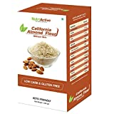 NutroActive California Almond Flour Without Skin (blanched) Badam Powder Vacuum Pack - 200g