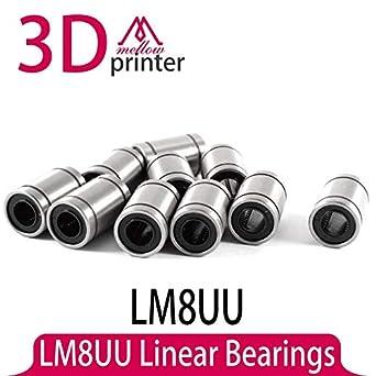 Impresora 3D – Piezas para impresoras 3D, 12 piezas/lote LM8UU 8 ...