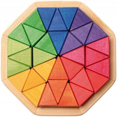 Puzzle mosaico en madera