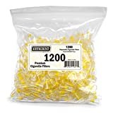 Efficient Cigarette Filters Bulk Economy Pack (Total 1200 Filters), In a convenient resealable bag