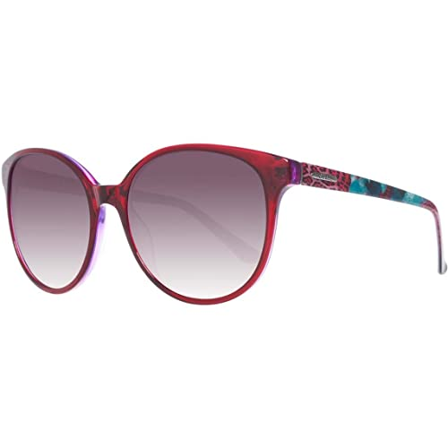 Guess - GU7383, Oversize, acetato, donna, CHERRY COLORED FANTASY/GREY SHADED(66F A), 58/18/135