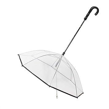Heepark - Correa para Paraguas para Perros pequeños y medianos, Transparente