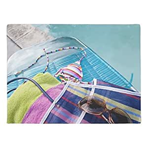ailovyo piscina accesorios de goma antideslizante entrada camino al aire libre decoración de interior alfombra Doormats, 23.6x 15.7-inch