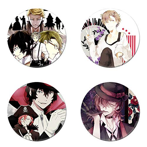 8ee5434f17 Amazon.com: Elibeauty Bungo Stray Dogs Animation Around Cartoon Brooch Pin  Pins Badge Accessories for Clothes Backpack Decoration Best Gift for Anime  Fans ...