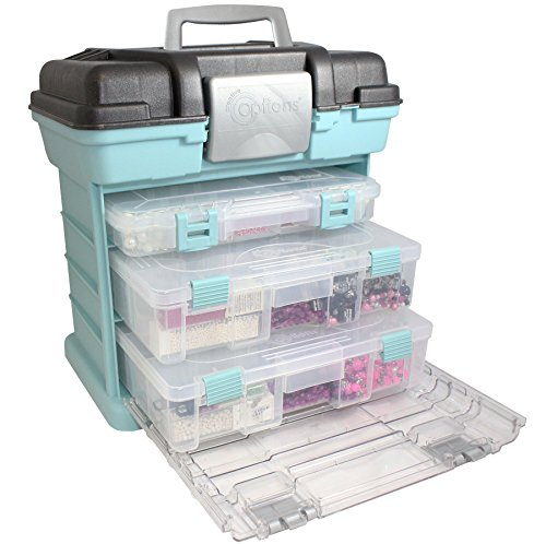 Creative Options 1363-83 Grab N' Go Rack System, Soft Blue (Pink Ribbon Swarovski Crystal)