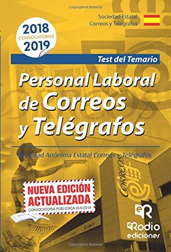 Personal Laboral de Correos y Telegrafos. Test Tapa blanda – 20 jul 2018 Vv.Aa Ediciones Rodio S. Coop. And. 841743920X Administración pública