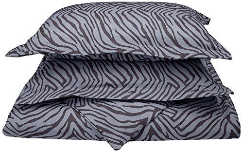 1800 Series 100% Brushed Microfiber, Deep Pocket, Wrinkle Resistant 2-Piece Twin/Twin XL Duvet Cover Set, Animal Print, (Leopard Print Animal Series)