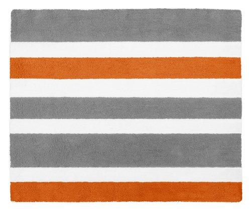 Kid Floor Rug For Sweet Jojo Designs Modern Orange Gray And