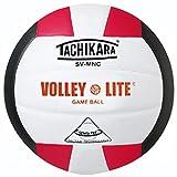 Tachikara INDOOR VOLLEYBALL LITE SCARLET/WHITE/BLACK