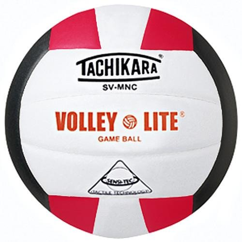 Tachikara INDOOR VOLLEYBALL LITE SCARLET/WHITE/BLACK