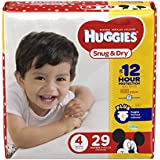 HUGGIES Snug & Dry Diapers, Size 4, 29 Count (Packaging May Vary)
