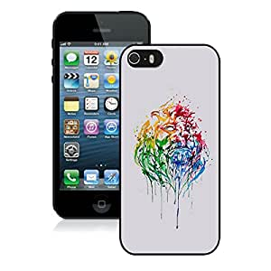 iPhone 5S Case,Abstract Illustration Lion King For iPhone 5S Black Case Cover