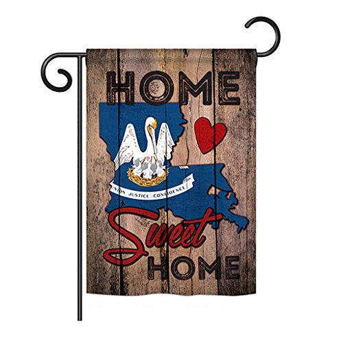 Ornament Collection GS191130-P3 State Louisiana Home Sweet Home Americana States Impressions Decorative Vertical 13