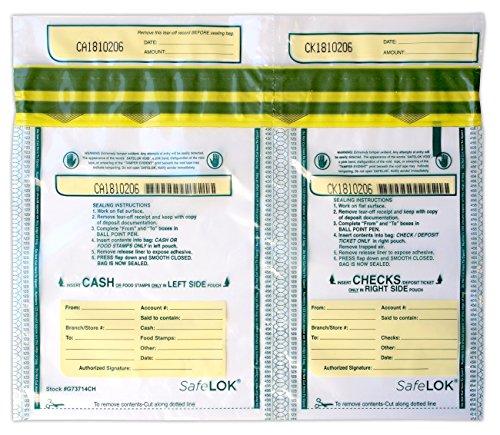 13.5 X 10 SafeLok, Horizontal Twin 100 Deposit Bags