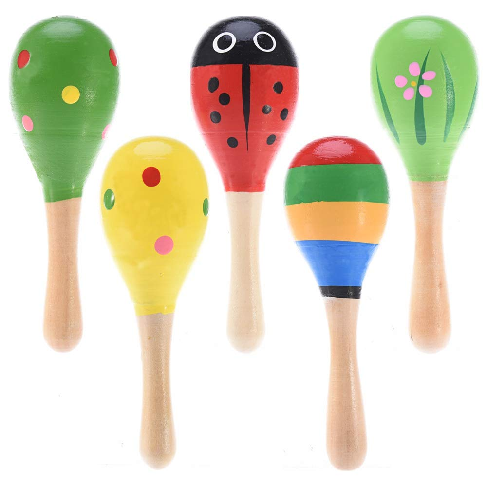 Plastic Sand Hammer Maraca Rattle Shaker Kids Musical Instruments Baby Sound Music Toy 1 Pcs Musical Instruments Orff Instruments Random Color