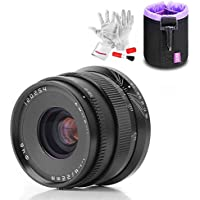 Zonlai 22mm F1.8 Ultra Wide Angle Lens for Sony E-Mount APS-C Mirrorless Cameras Manual Focus Prime Fixed Lens (Black)