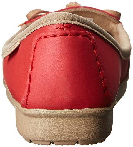 crocs Wrap Colorlite Ballet Flat Damen Ballerinas Rot (Pepper/Tumbleweed)