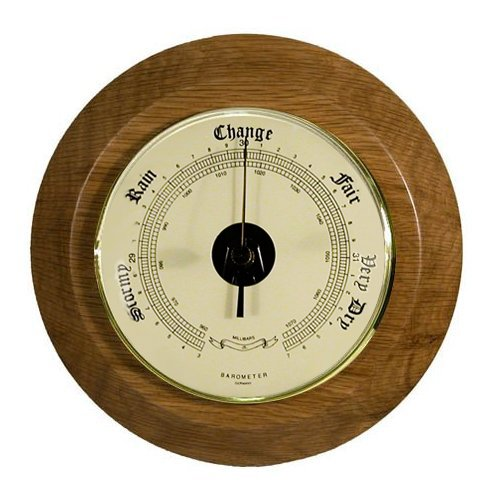 8'' Weather Barometer in Dark Oak for High Elevations 3001' to 7000'