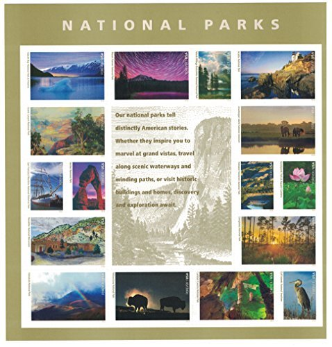 National Parks USPS Forever Stamps Sheet of 16 Postage Stamps 2016 by USPS