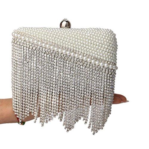 evening Banquet Fly bag Evening Bag Color Bag Gold Fringe Dress Evening Holding Silver Lady Fashion Bag CwqFPwRp