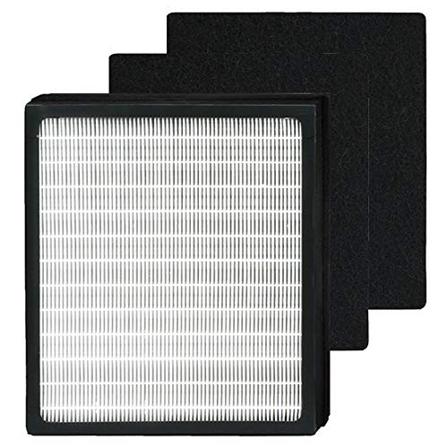 HEPA Filters D Fit for Idylis Air Purifiers Idylis AC-2118, AC-2123, IAP-10-280, Part# IAF-H-100D, Includes 1 HEPA Filters & 2 Carbon Filters