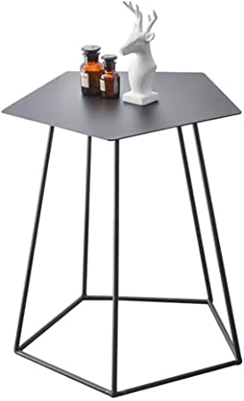 Lian Table Basse En Métal Simple Salon Hexagonal Chambre