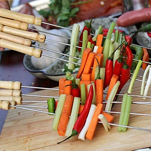 Brochettes Barbecue INOX Pic a Brochette Kebab Brochettes en Acier Inoxydable BBQ Kebab Brochettes Brochettes en Acier Inoxydable