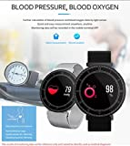 Rumas Multifunction Smart Watch with Heart Rate & Blood Pressure as Fitness Monitor, Activity Tracker, Sleep Monitor for Kids Seniors Women Men (Black)