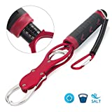 TICOZE Fish Gripper, Portable Fish Lip Gripper Made from Rustproof Aluminum Alloy and TPR Handle Red