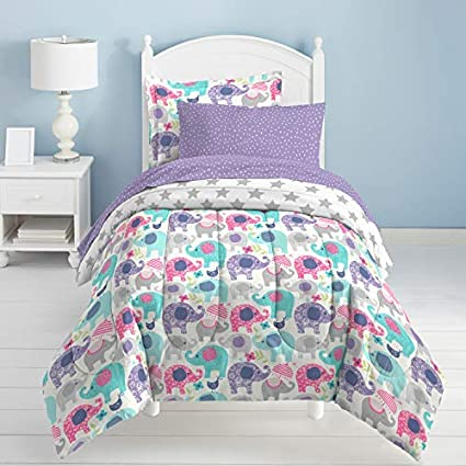 7d9c39ff0e9 Amazon.com  dream FACTORY Elley Elephant Comforter Set